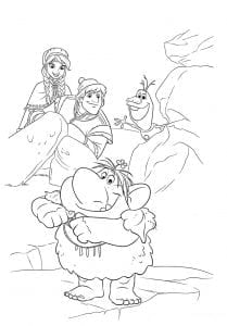 холодное сердце раскраски мультфильм (2)