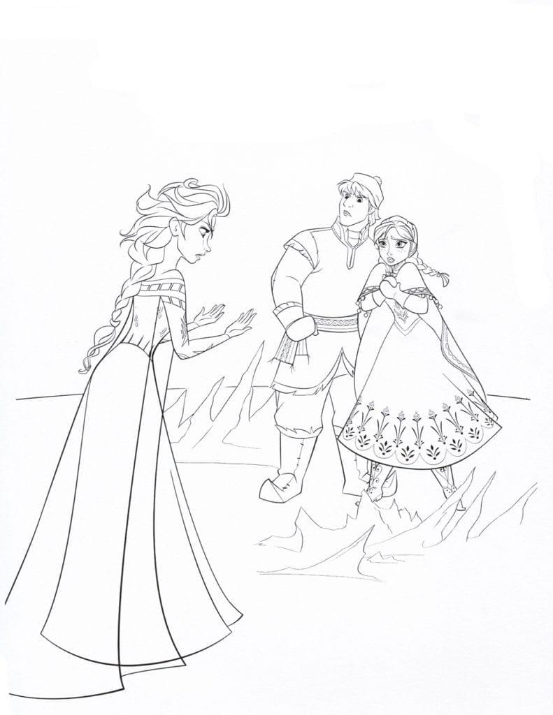 холодное сердце раскраски мультфильм (20)