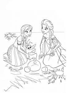 холодное сердце раскраски мультфильм (23)