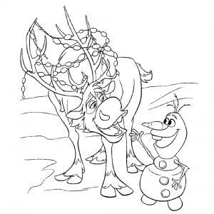 холодное сердце раскраски мультфильм (3)