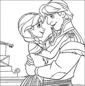холодное сердце раскраски мультфильм (31)