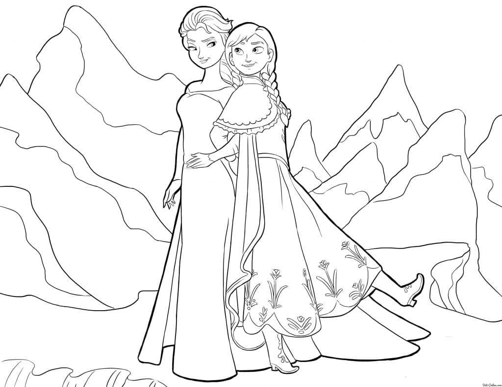 холодное сердце раскраски мультфильм (39)