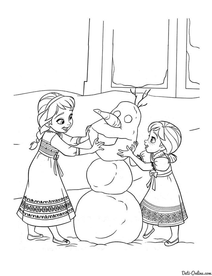холодное сердце раскраски мультфильм (40)