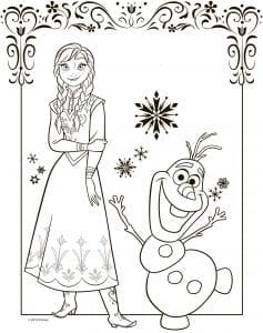 холодное сердце раскраски мультфильм (6)