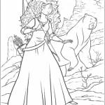 А4 раскраска для девочек храброе сердце распечатать