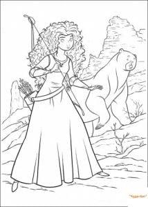4-раскраска-для-девочек-храброе-сердце-распечатать-214x300 Храбрая сердцем