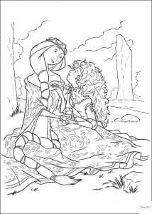 4-раскраска-храброе-сердце-распечатать-214x300 Храбрая сердцем