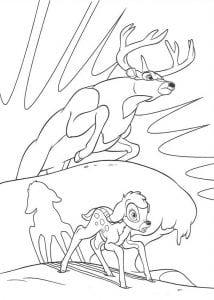 Раскракса Бэмби и взрослый олень