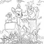 Раскраска Бэмби его друзья