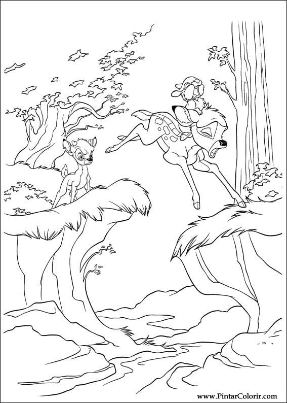 Раскраска Бэмби-2 оленята дерутся