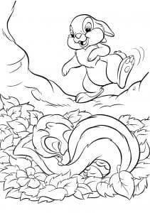 Раскраска Топотун и спящий Цветочек