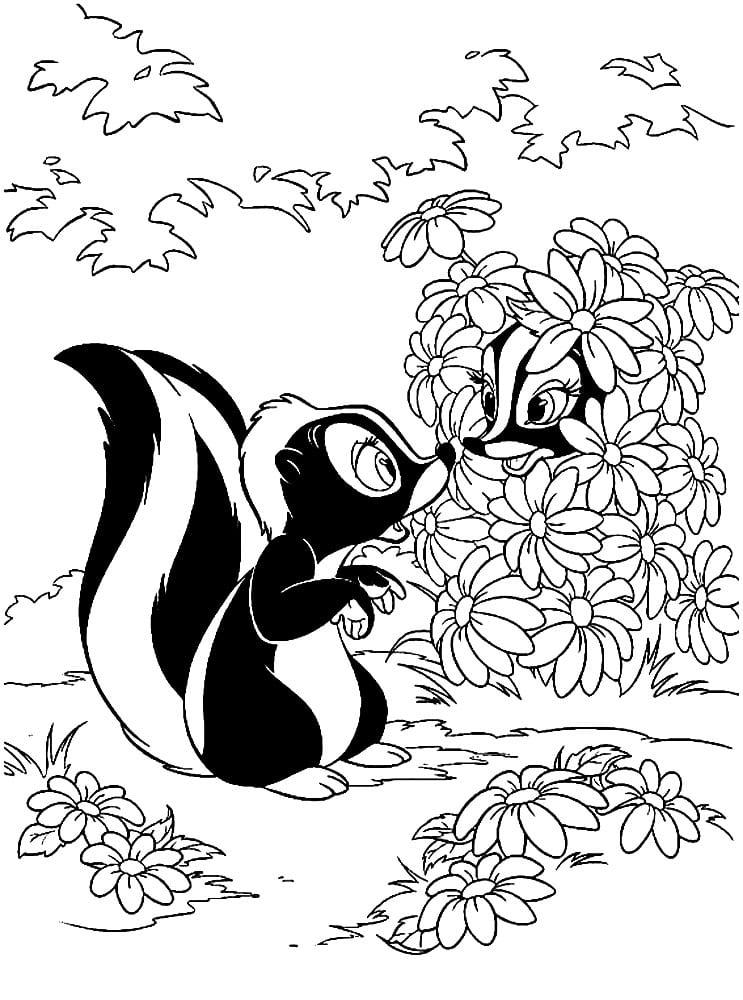 Раскраска Цветочек встречает подружку