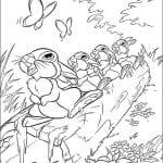 Раскраска из мультфильма Бемби