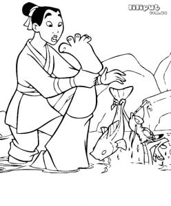 раскраска мулан (2)