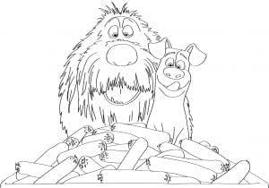 Тайная жизнь домашних животных раскраска (25)