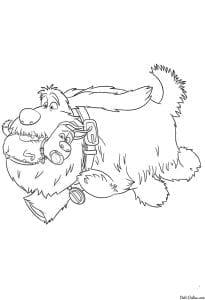 Тайная жизнь домашних животных раскраска (4)