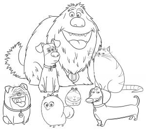 Тайная жизнь домашних животных раскраска (5)