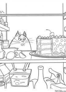 Тайная жизнь домашних животных раскраска (8)