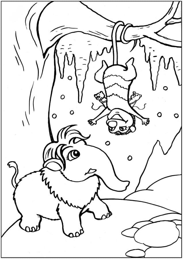 ледниковый период раскраска (12)