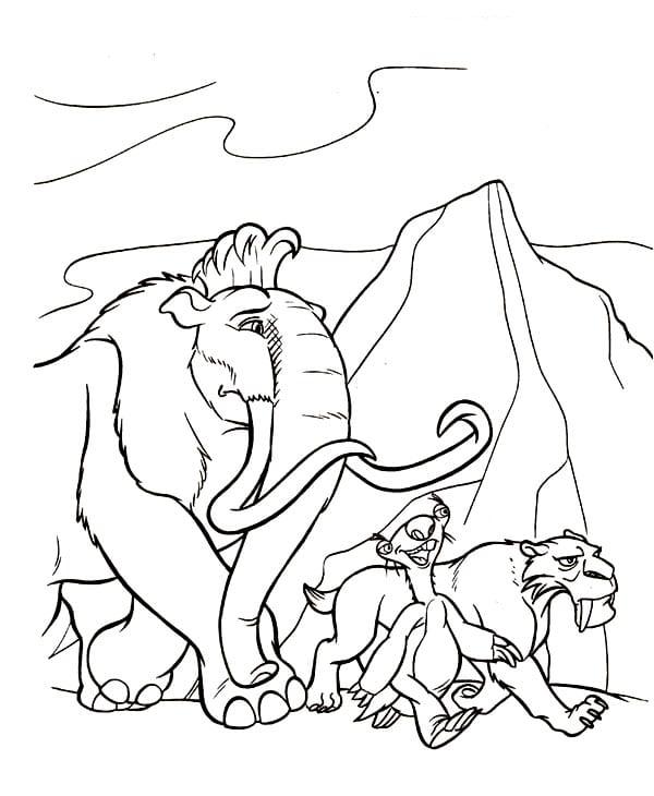ледниковый период раскраска (31)