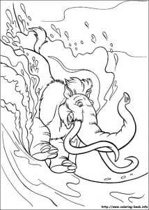 ледниковый период раскраска (6)