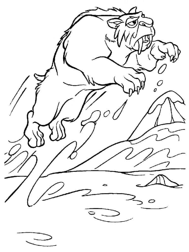 ледниковый период раскраска (68)