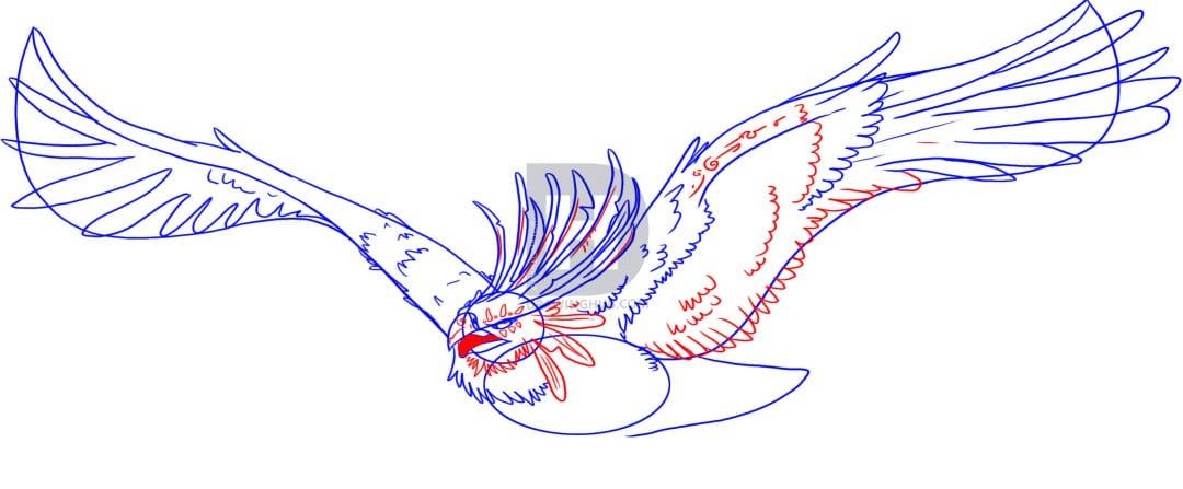 5-2 Как нарисовать феникса