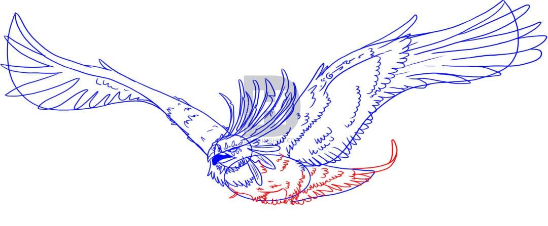 6-2 Как нарисовать феникса