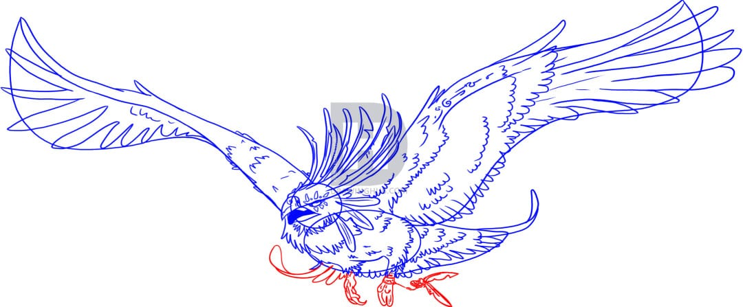7-2 Как нарисовать феникса