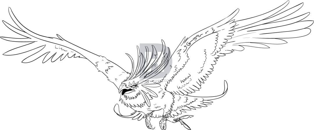 8-2 Как нарисовать феникса
