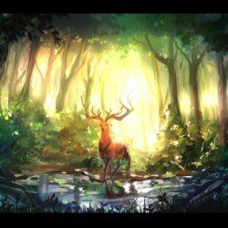 Как нарисовать оленя поэтапно