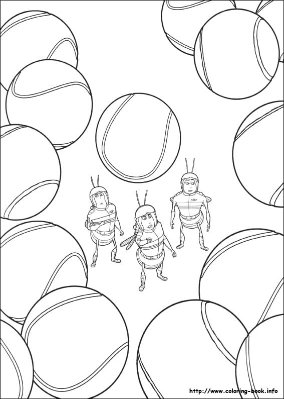 -муви-раскраски-7 би муви раскраски (7)