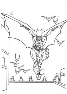 раскраска бэтмен распечатать (1)