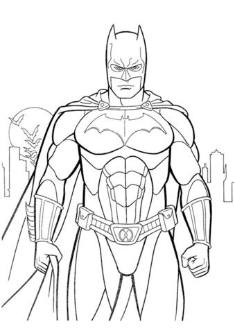 -бэтмен-распечатать-8 раскраска бэтмен распечатать (8)