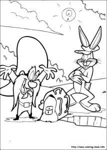 Bugs Bunny раскраска (11)