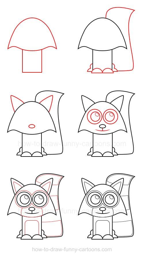 -легко-нарисовать-енота Как нарисовать енота