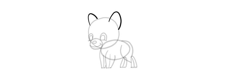 -волк-шаг-12 Милые зверята 5 штук как нарисовать