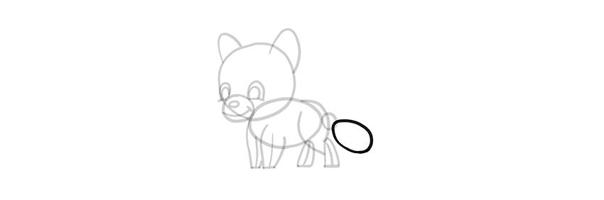 -волк-шаг-13-1 Милые зверята 5 штук как нарисовать