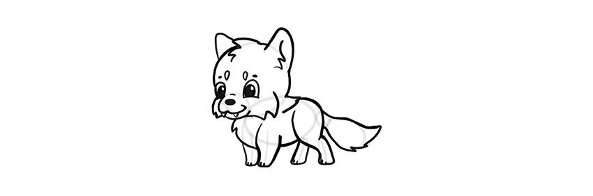-волк-шаг-14 Милые зверята 5 штук как нарисовать