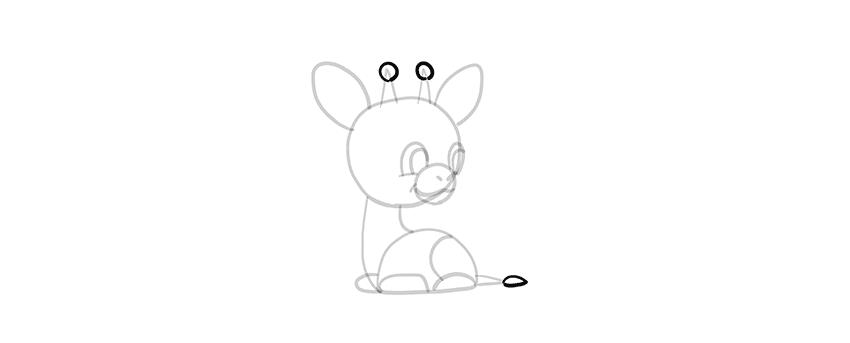 -жираф-9-1 Милые зверята 5 штук как нарисовать