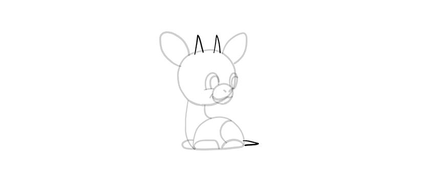 -жираф-9 Милые зверята 5 штук как нарисовать