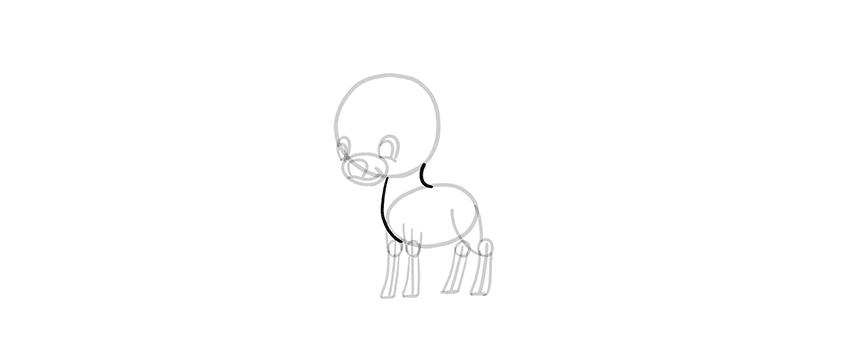 -олень-шаг-10 Милые зверята 5 штук как нарисовать