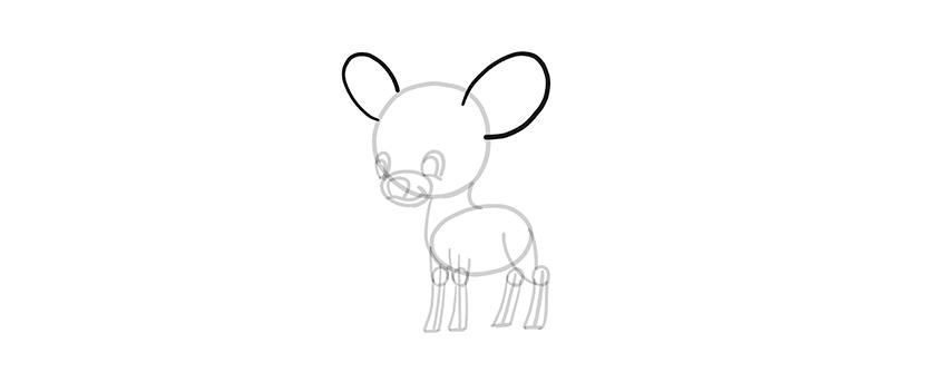-олень-шаг-11 Милые зверята 5 штук как нарисовать