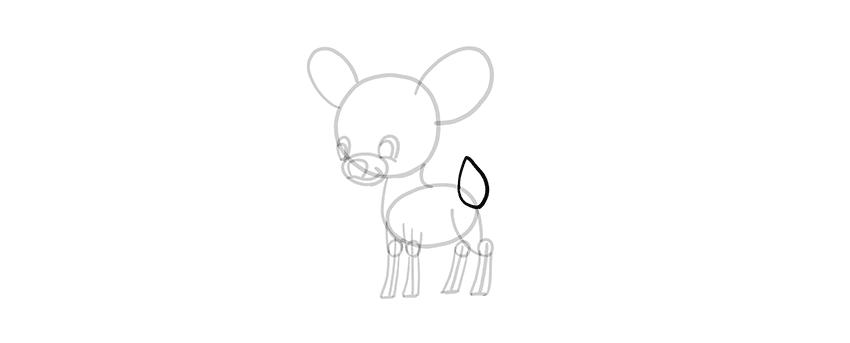 -олень-шаг-12 Милые зверята 5 штук как нарисовать