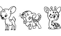 Милые зверята 5 штук как нарисовать