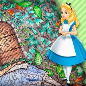 Алиса в стране чудес раскраски