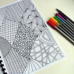 Зентанглы раскраски
