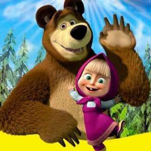 Маша и Медведь раскраски