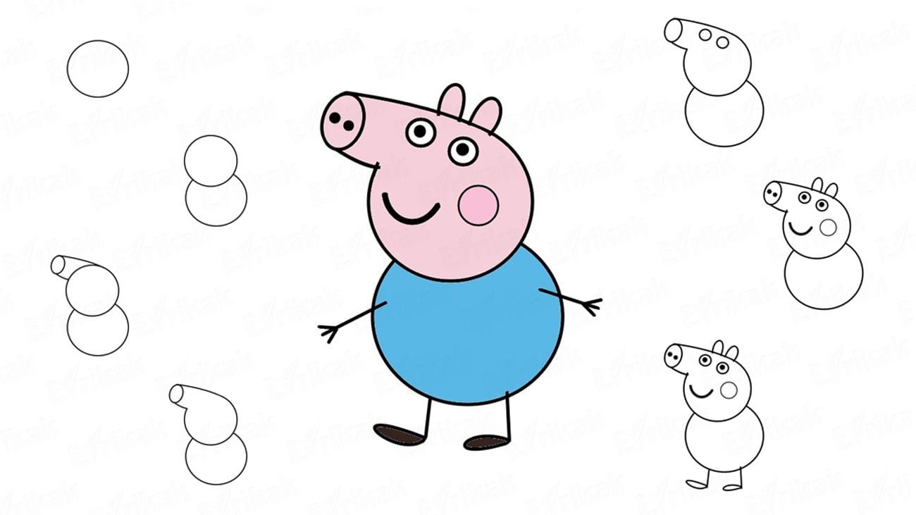 как нарисовать свинку пеппа