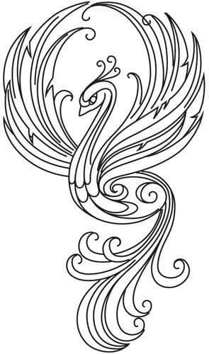 павлин картинка раскраска112